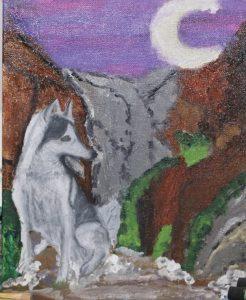 זאב ציור